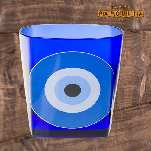 ποτήρι μπλε με μάτι